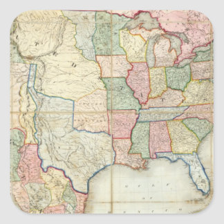 Map of The United States of America Stickers