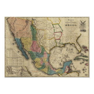 Map of the United States of Mexico (1847) Card