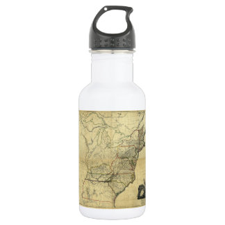 Map of the United States of North America (1811) 18oz Water Bottle