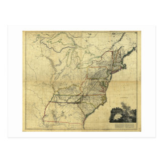 Map of the United States of North America (1811) Postcard
