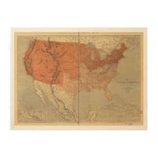 Map of the United States of North America (1861) Wood Wall Decor