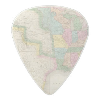 Map of the United States Of North America Acetal Guitar Pick