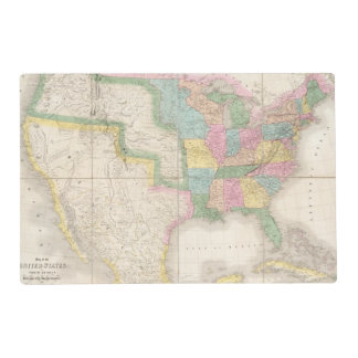Map of the United States Of North America Placemat