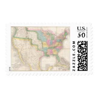 Map of the United States Of North America Postage
