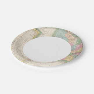 Map of the United States Of North America 7 Inch Paper Plate