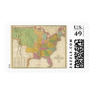 Map of The United States Postage