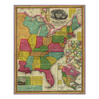 Map of the United States Posters