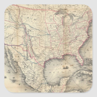 Map Of The United States Square Stickers