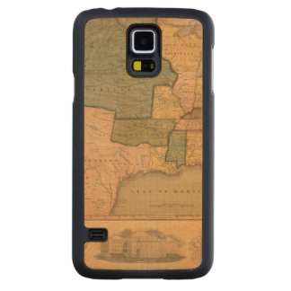 Map of The United States with George Washington Carved® Maple Galaxy S5 Slim Case