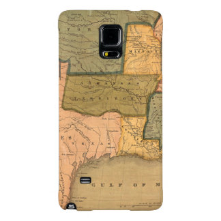 Map of The United States with George Washington Galaxy Note 4 Case