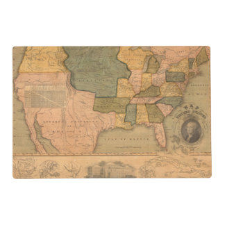 Map of The United States with George Washington Placemat