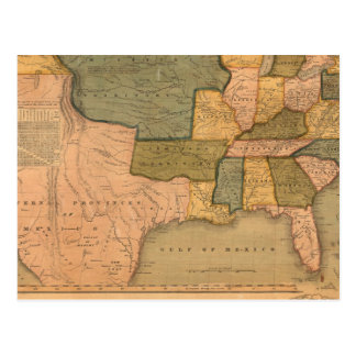 Map of The United States with George Washington Postcard