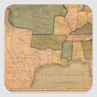 Map of The United States with George Washington Square Sticker