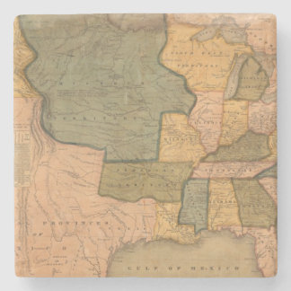 Map of The United States with George Washington Stone Coaster