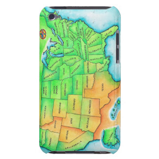 Map of the USA Barely There iPod Cases