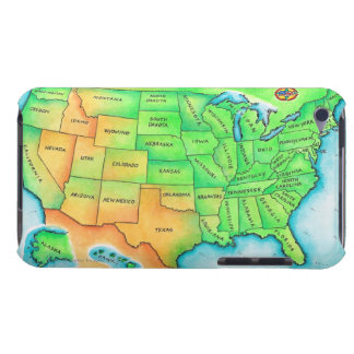 Map of the USA Barely There iPod Case