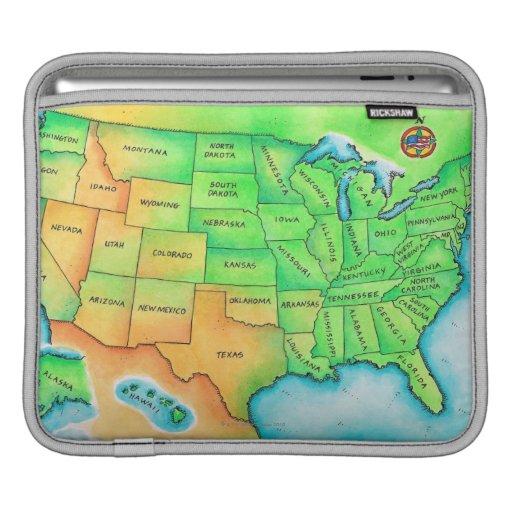 Map of the USA iPad Sleeve