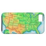 Map of the USA iPhone 5 Cases