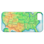 Map of the USA iPhone 5 Cover