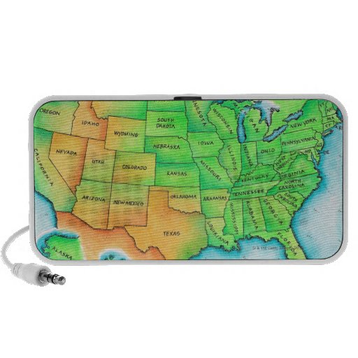 Map of the USA Mini Speaker