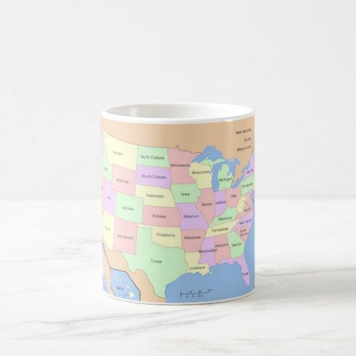 Map of the USA Mug