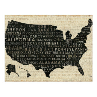 Map of the USA Postcards