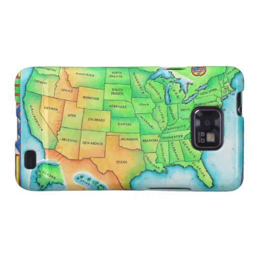 Map of the USA Samsung Galaxy S2 Case