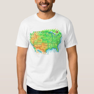 Map of the USA Shirts