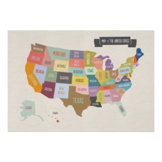 Map of the USA XL poster