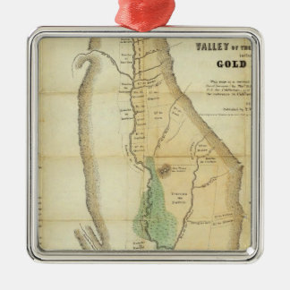 Map of the Valley of the Sacramento Christmas Tree Ornaments