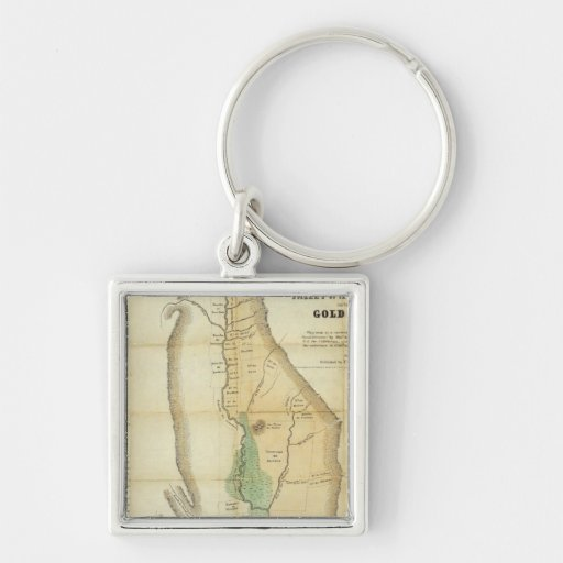Map of the Valley of the Sacramento Key Chain