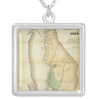 Map of the Valley of the Sacramento Custom Necklace