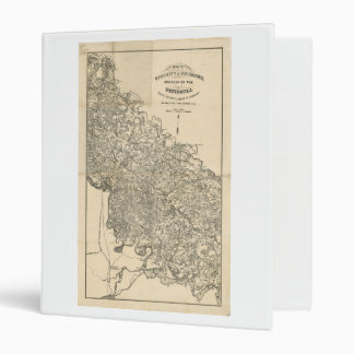 Map of the Vicinity of Richmond Virginia (1864) 3 Ring Binder