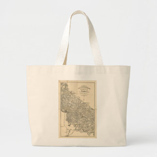 Map of the Vicinity of Richmond Virginia (1864) Large Tote Bag