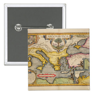 Map of the Voyage of the Argonauts Pinback Button