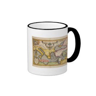 Map of the Voyage of the Argonauts Ringer Coffee Mug