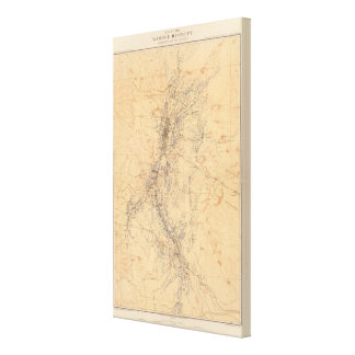 Map of the Washoe District Showing Mining Claims Canvas Print