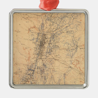 Map of the Washoe District Showing Mining Claims Metal Ornament