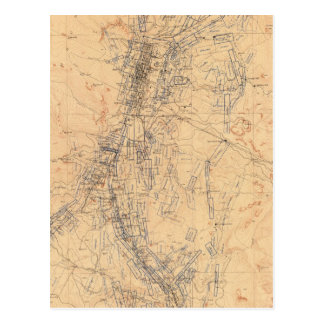 Map of the Washoe District Showing Mining Claims Postcard