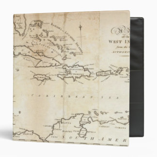 Map of the West Indies 2 3 Ring Binders
