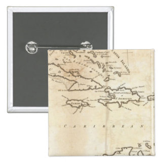 Map of the West Indies 2 Button
