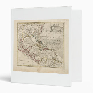 Map of the West Indies by Emanuel Bowen (1752) 3 Ring Binder