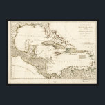 """Map of the West Indies by Samuel Dunn (1774) Canvas Print<br><div class=""""desc"""">Title A compleat map of the West Indies containing the coasts of Florida, Louisiana, New Spain, and Terra Firma: With all the islands. Contributor Names Dunn, Samuel, -1794. Sayer, Robert, 1725-1794. Created / Published London, Printed for Robt. Sayer, 1774. Subject Headings - Caribbean Area--Maps--Early works to 1800 - Caribbean Area...</div>"""