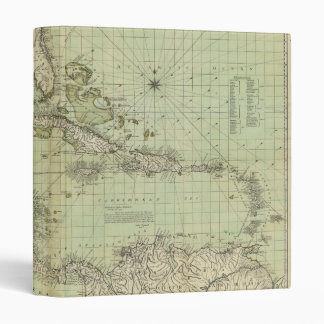 Map of the West Indies by William Guthrie (1777) 3 Ring Binder
