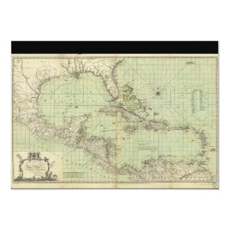 Map of the West Indies by William Guthrie (1777) Card
