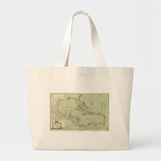 Map of the West Indies by William Guthrie (1777) Large Tote Bag