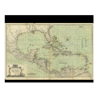 Map of the West Indies by William Guthrie (1777) Postcard