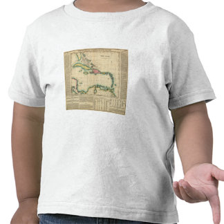 Map Of The West Indies T Shirt