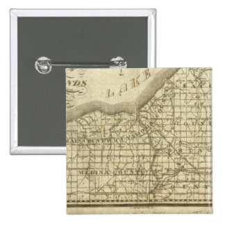 Map of The Western Reserve 2 Inch Square Button