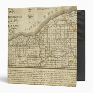 Map of The Western Reserve 3 Ring Binder